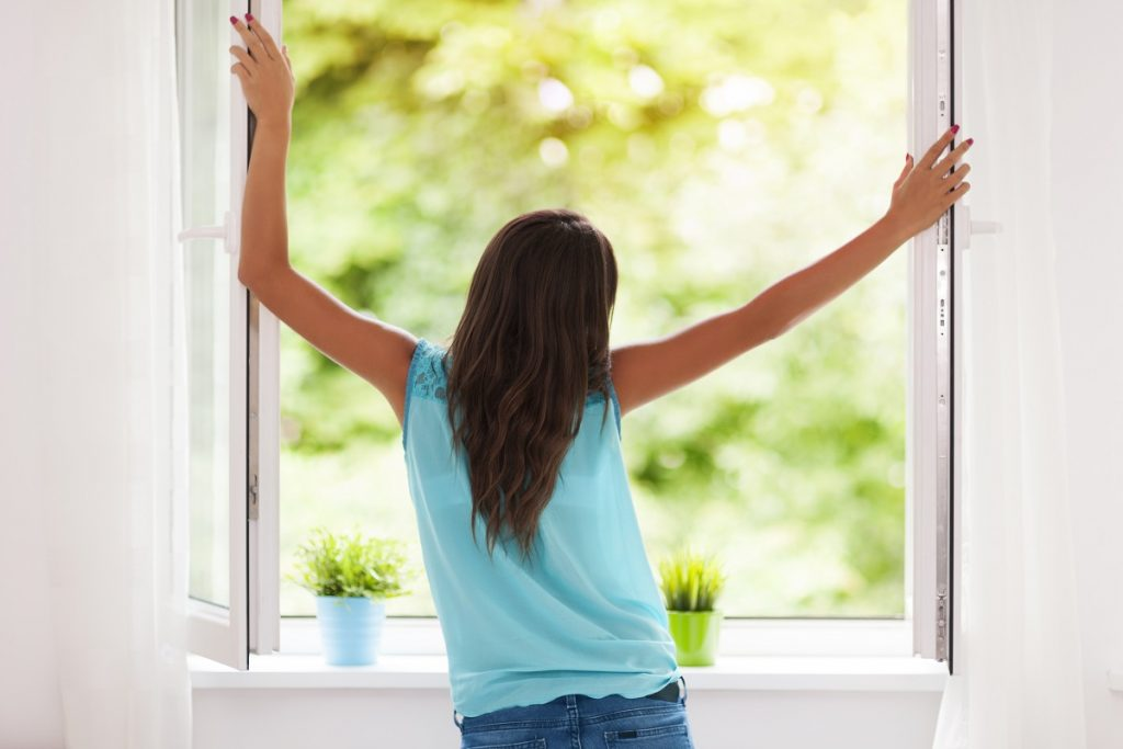 woman enjoying fresh air